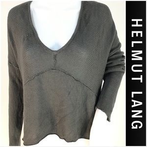 NWT Helmut Lang Gray Exposed Seam Sweater